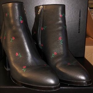 Wang rose boots worn once!